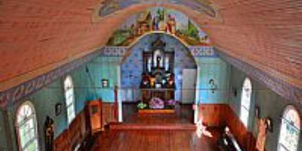Mandirituba-SC-Interior da Capela de Santo Antônio-Foto:Márcio Garmatz