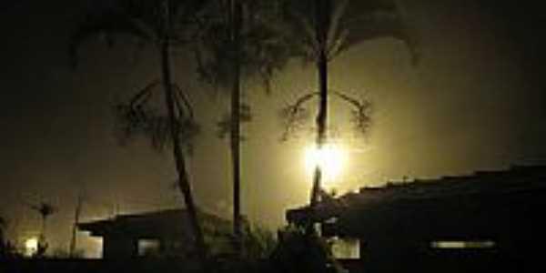 Madrugada de neblina em Ibirapitanga-BA-Foto:Beto Santana