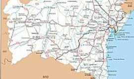 Ibirapu� - Mapa de Localiza��o - Ibirapu�-BA