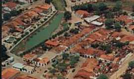 Ibitiara - Vista aérea do centro de Ibitiara-BA-Foto:institutochapada.