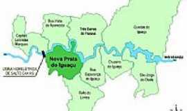 Nova Prata do Iguaçu - Mapa de localização - Nova Prata do Iguaçu-PR