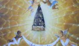 Nova Tebas - Foto dentro da igreja Sao Pedro, Por Nerci Pirucelli