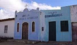 Ibitiguira - Igreja de N.Sra.Aparecida e Salão Comunitário em Ibitiguira-BA-Foto:nadoautodidata.