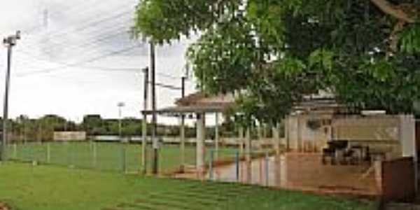Campo de futebol no Distrito de Novo Três Passos-Foto:Ricardo Mercadante