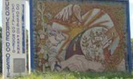 Ouro Verde do Oeste - Mural de entrada da cidade via Toledo, Por Ricardo Mercadante