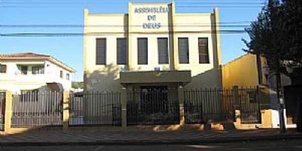 Templo religioso Assembléia de Deus centro - Foto Paiçanduagora