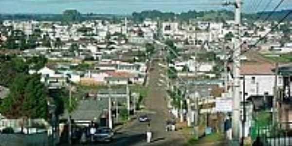 Vista da cidade do Alto da Glória- Palmas-PR-Foto:Rogério E. Schmidt