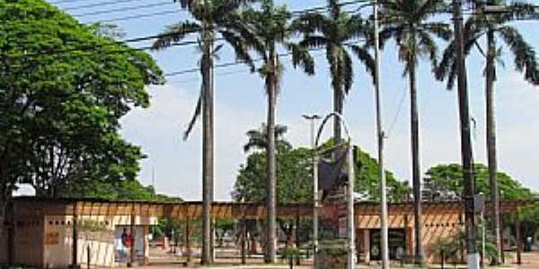 Palotina-PR-Vista parcial da Praça Amadeo Piovesan-Foto:Ricardo Mercadante