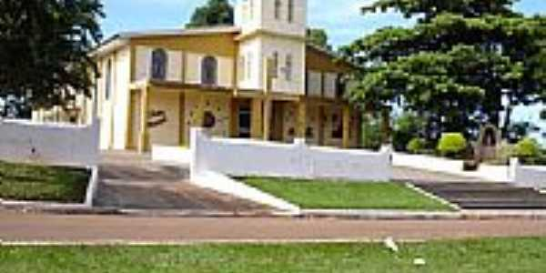 Igreja Matriz[Par�quia de S�o Pedro] em Paran� d�Oeste-Foto:rodrigues-py5rod