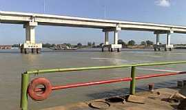 Ibó - Ibó-BA-Balsa e a Ponte na divisa dos estados da Bahia e Pernambuco-Foto:Sergio Vaz