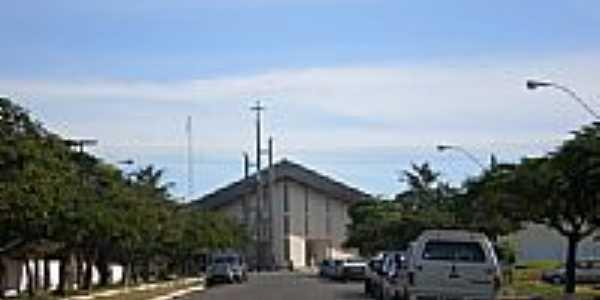 Praça e Igreja Matriz-Foto:Udson Pinho