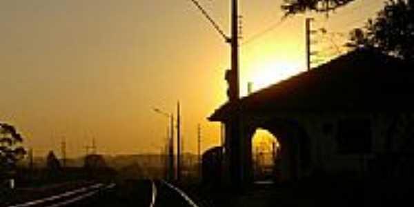 Pôr do Sol na Estação-Foto:Luiz H. Bassetti