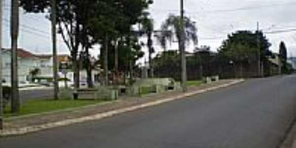 Pracinha entre as ruas Silva Jardim e Paula Xavier  em Ponta Grossa-Foto:Rafael Klimek