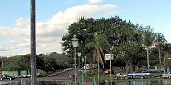 Porto Mendes-PR-Passarela sobre o Lago de Itaipu no Parque de Lazer Annita Wanderer-Foto:Ricardo Mercadante