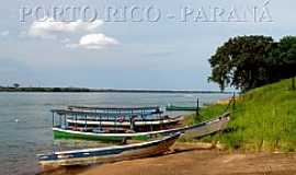 Porto Rico - Porto Rico-PR-Barcos no Rio Paran�-Foto:Augusto Janiscki Junior