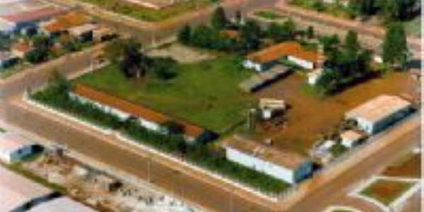 Foto área - centro - Quedas do Iguaçu - PR, Por Valdir Luzitani