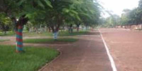 Vista parcia da Praça Central e Avenida Brasil, Por Valter Cesar Rosa