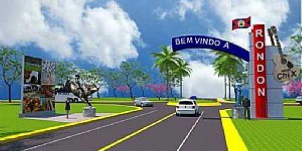 Novo Portal A Ser Construido Na Entrada de Rondon.