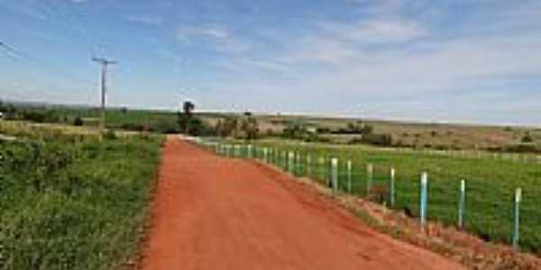 Santa F�-PR-Estrada de terra em �rea rural-Foto:adauto sanches