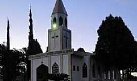 Santa Helena - Igreja Luterana no Distrito de Esquina C�u Azul  em Santa Helena-Foto:Ricardo Mercadante