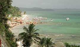 Ilha de Mar� - Ilha da Mar�-BA-Vista da Praia de Itamoabo-Foto:Ed_Santiago