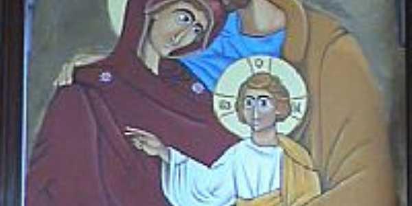 Igreja de Santana-Ícone da Sagrada Família-Foto:Emerson Novalski