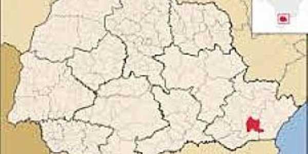 São José dos Pinhais-PR-Mapa de Localização