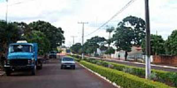 Avenida em São Manoel do Paraná-Foto:Lineu Santos