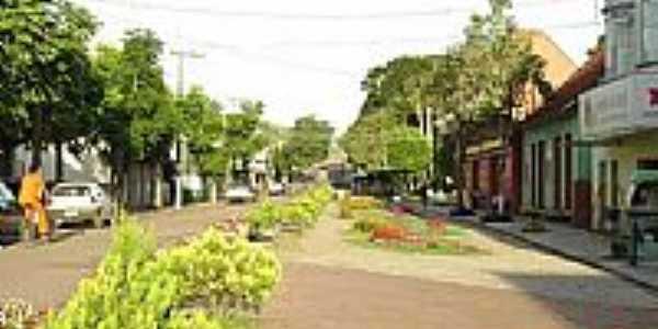 Avenida central em São Mateus do Sul-Foto:diogockmayer