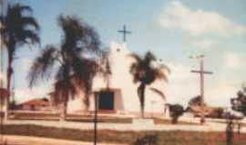 São Roque do Pinhal - Pracinha com Igreja Catolica-  Por Marins Lemes Oliveira