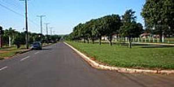 Avenida Central em Serra dos Dourados-Foto:Udson Pinho