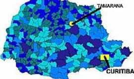 Tamarana - Mapa de Localização - Tamarana-PR