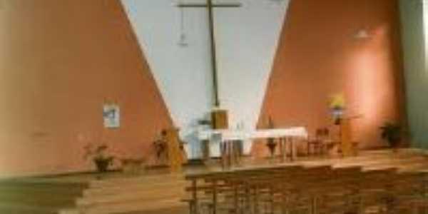 Tapira - PR  - igreja - interior - Por SILVIO ALCÂNTARA FERREIRA