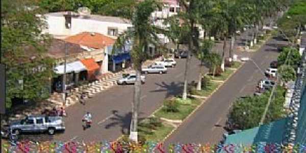 Terra Rocha-PR-Vista aérea da Avenida central-Foto:terraricanoticias.