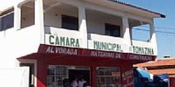 Câmara Municipal de Tomazina-Foto:Aparecido Ferraz