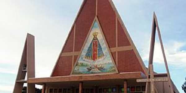 Igreja Matriz de Três Barras do Paraná (foto João Carlos Ribeiro).