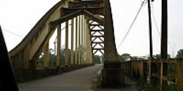 União da Vitória-PR-Antiga Ponte em Arco-Foto:Loivinho A.M.França