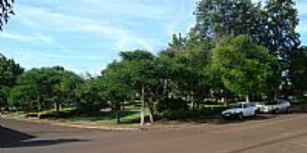 Praça no centro de Verê-PR-Foto:leonir angelo lunard…