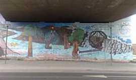 Xaxim - Pintura no Viaduto-Foto:kuchenny