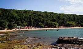 B�zios - Praia da Tartaruga �rvores e barracas oferecem boas sombras Foto: Editoria B�zios On Line / Anna Fischer