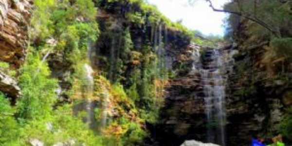 Cachoeira da Roncadeira em Itaet� Bahia, Por Val Marques