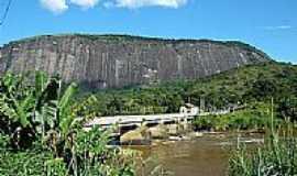 Comendador Levy Gasparian - Pedra e Rio Paraibuna em Comendador Levy Gasparian-Foto:Aelson Faria Amaral