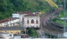 Engenheiro Paulo de Frontin - Engenheiro Paulo de Frontin-RJ-Vista da Estação e Ferrovia-Foto:Jorge A. Ferreira Jr