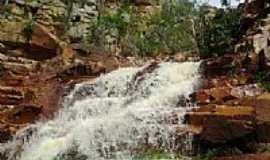 Itagua�u da Bahia - Cachoeira do Cokeiro em Itagua�u da Bahia-BA-Foto:Marcondes Braga