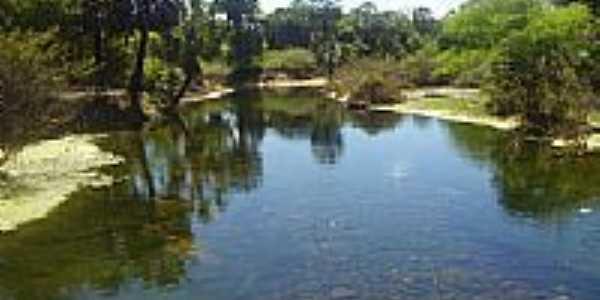 Lago no Povoado Rio Verde em Itaguaçu da Bahia-BA-Foto:Tássio Cunha