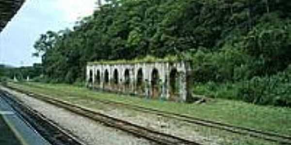 Ruinas da Estação Ferroviária-Foto:Luiz Augusto Barroso