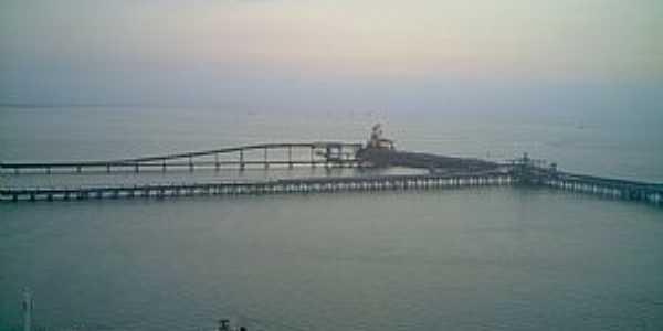 Itagua�-RJ-Ponte de acesso ao pier e porto-Foto:Tony Borrach