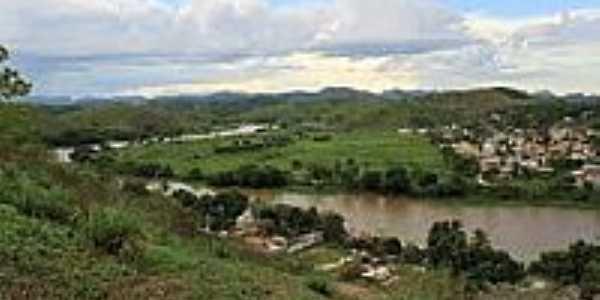 Rio Muriaé chegando à cidade de Italva-Foto:Warley do Carmo