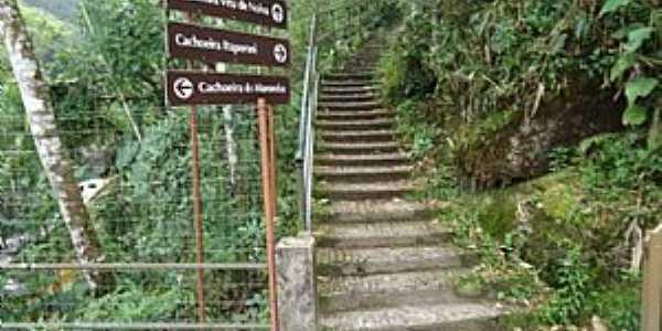 Itatiaia-RJ-Escadaria para as trilhas das cachoeiras do Parque Nacional-Foto:www.verdejava.com.br