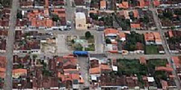 Itaju do Colônia-BA-Vista aérea do centro da cidade-Foto:itajunewsgmail.